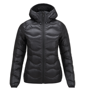 Damen Black Light Helium Mit Kapuze Jacke