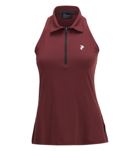 Women's Golf  Zipped Sleeveless Polo