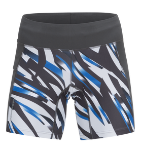 Women's Block Running Printed Shorts