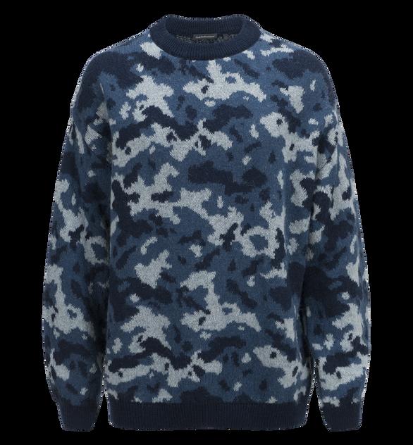 Ben kamouflagemönstrad tröja för herrar