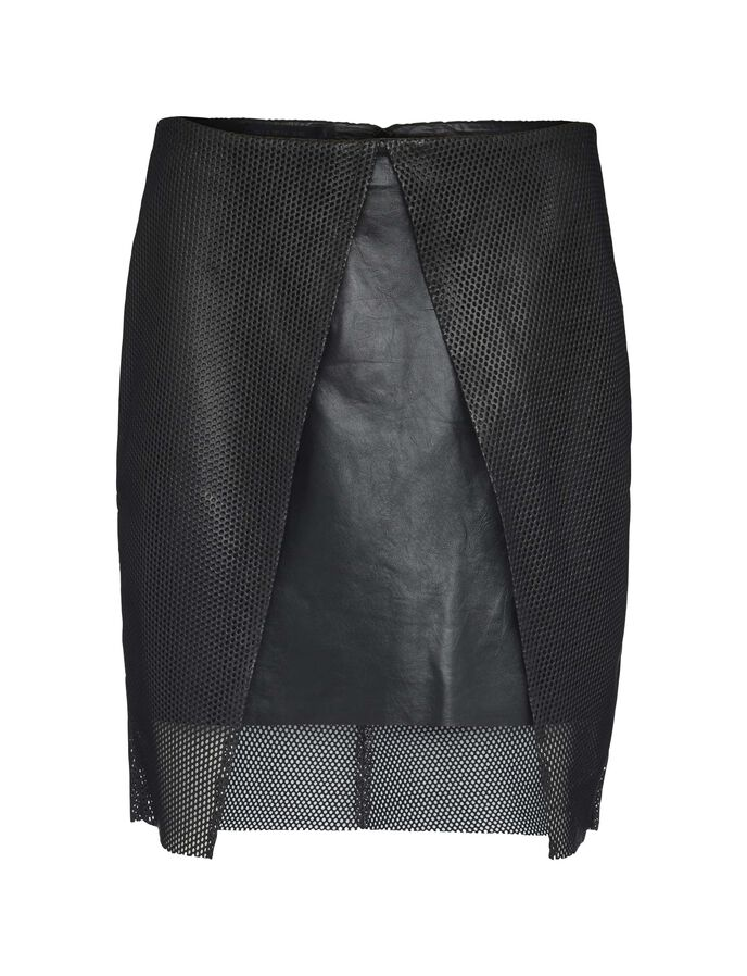 March leather skirt
