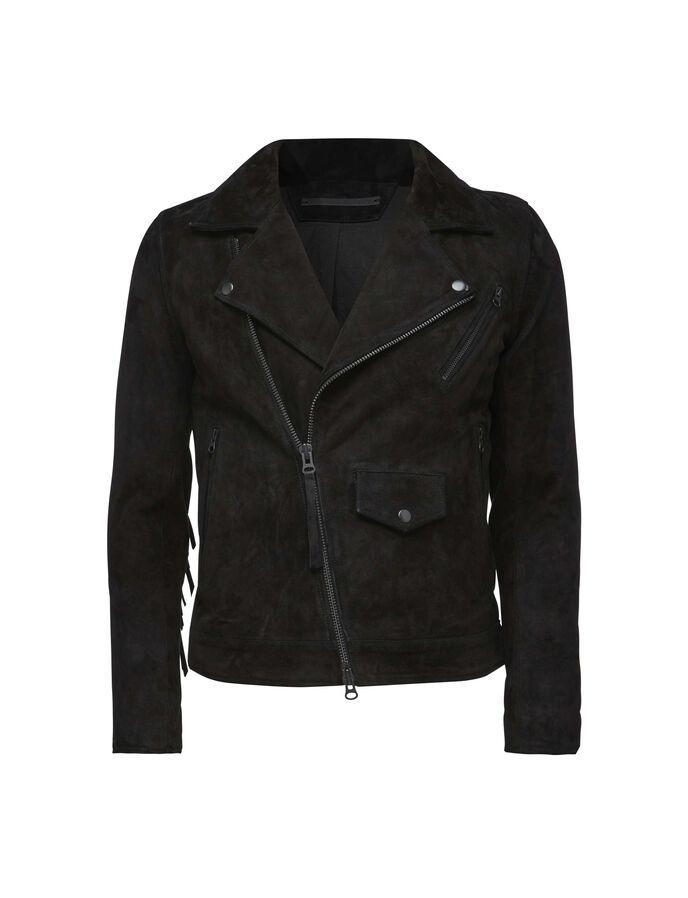 zuko fringe leather jacket