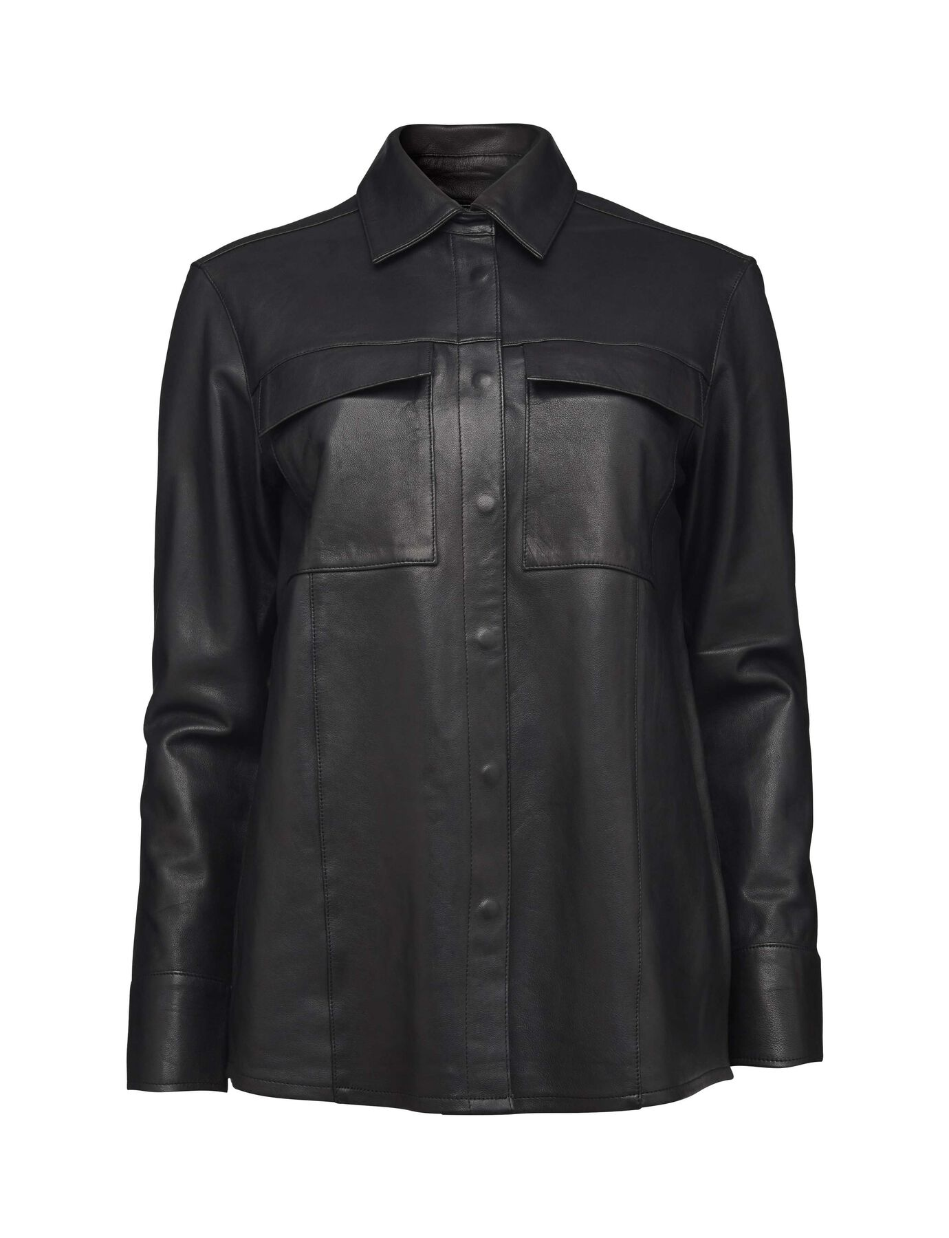 Mother leather shirt