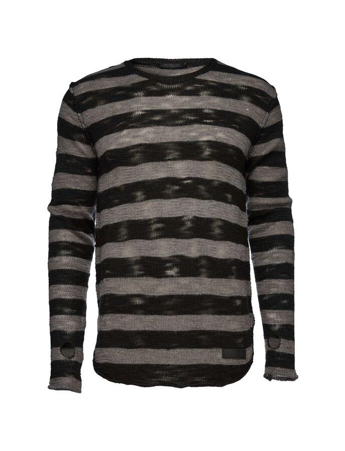 Rip stripe pullover