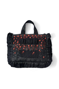 Auburn Jacquard Tote Bag, Black, hi-res