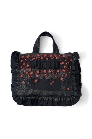 Auburn Jacquard Tote Bag, Black, hi-res