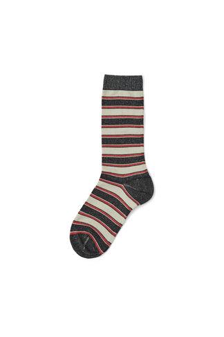 Paltrow Glitter Ankle Socks, Black Stripes, hi-res