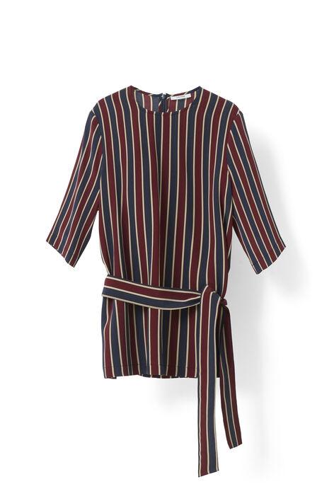 Donaldson Silk Blouse, Cabernet Stripe, hi-res
