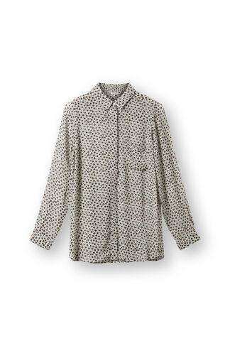 Miku Georgette Shirt, Blue Flower Bed, hi-res