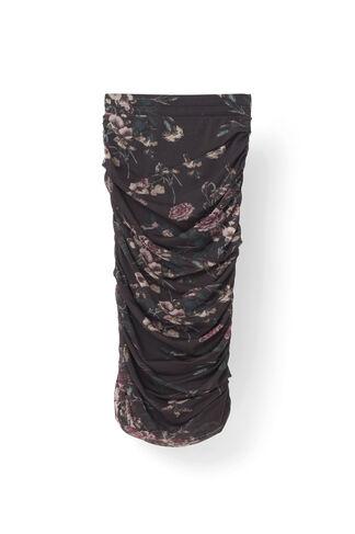 Delaney Mesh Skirt, Black Bouquet, hi-res