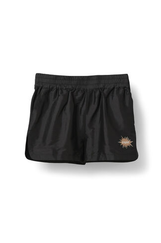 Ima Silk Shorts, Black, hi-res