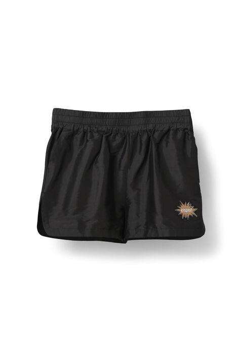Ima Silk Shorts, Black, hi-res