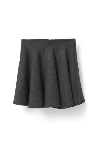Prescott Wool Skirt, Smoked Pearl Melange, hi-res