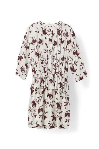 Maxwell Crepe Dress, Cabernet Bell Flower, hi-res