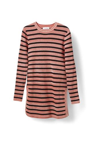 Michi Rib Pullover, Red Clay Mel. Stripe, hi-res
