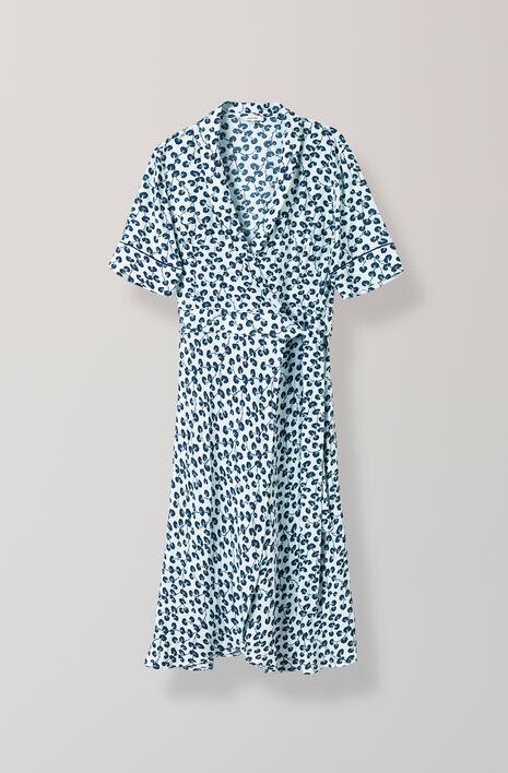 Emory Crepe Wrap Dress, Pearl Blue, hi-res