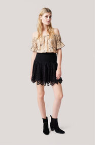 Emile Lace Skirt, Black, hi-res