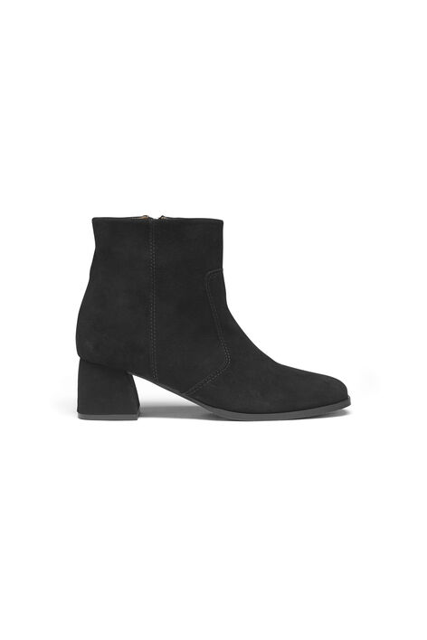 Adina Suede Ankle Boots, Black, hi-res