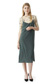 Elmira Silk Dress, Pine Grove Stripe, hi-res