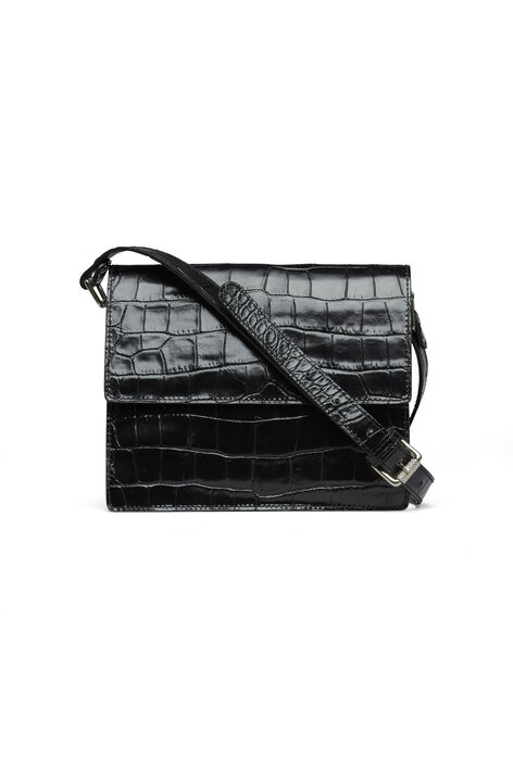 Gallery Accessories Bag, Black Croco, hi-res