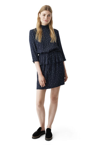 Rosemont Crepe Dress, Dotted Eclipse, hi-res