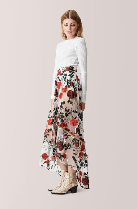 Monroe Maxi Skirt, Vanilla Ice, hi-res