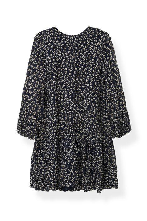 Newman Georgette Dress, Total Eclipse, hi-res