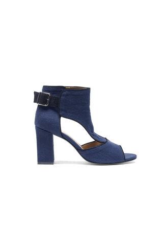 Nishi Linen Ankle Boots, Iris, hi-res