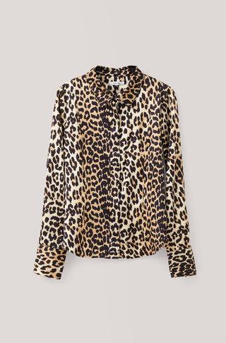 Dufort Silk Shirt, Leopard, hi-res