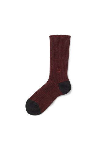 Dunn Cashmere Ankle Socks, Fired Brick, hi-res