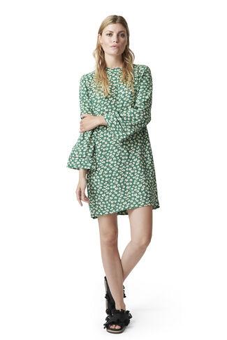 Dalton Crepe Dress, Verdant Green, hi-res