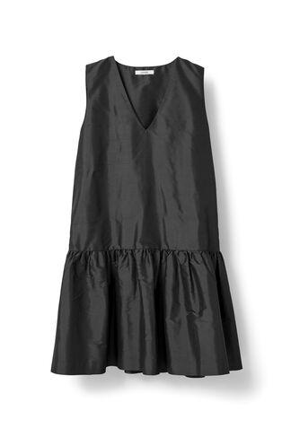 Ima Silk Dress, Black, hi-res