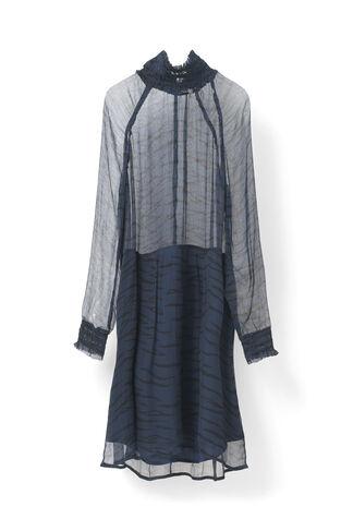 Whitman Chiffon Dress, Total Eclipse, hi-res