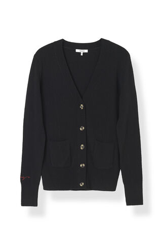 Mercer Cardigan, Black, hi-res
