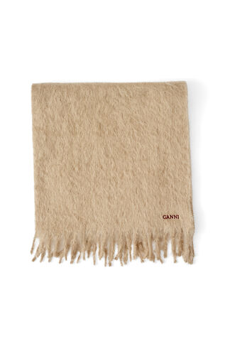 Farley Mohair Scarf, Tobacco Brown, hi-res
