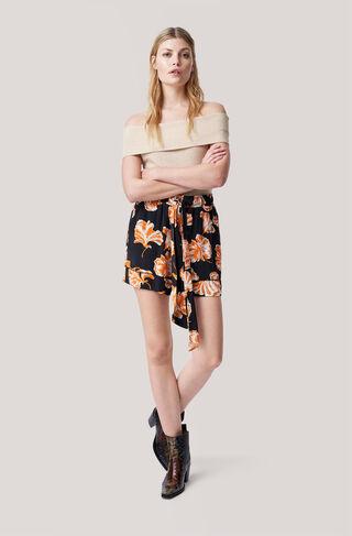 Geroux Silk Shorts, Black, hi-res