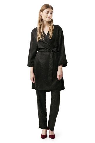 McCarthy Silk Kimono Dress, Black, hi-res