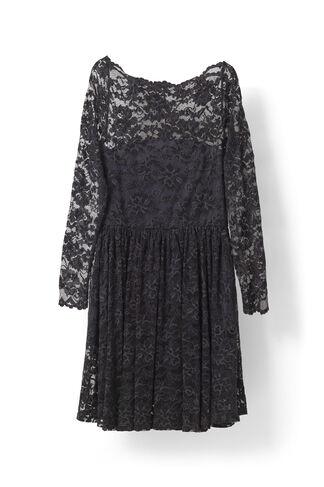 Flynn Lace Dress, Ebony/Black, hi-res