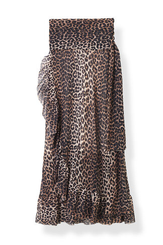 Peirce Mesh Skirt, Leopard, hi-res