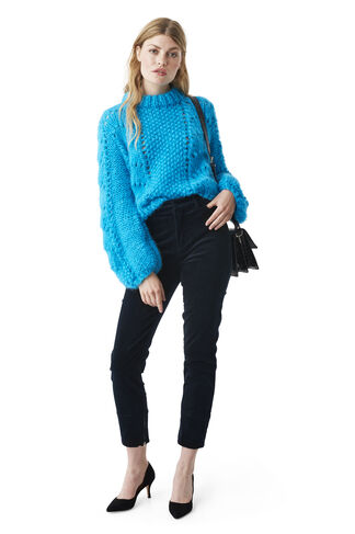 The Julliard Mohair Pullover, Cyan Blue, hi-res