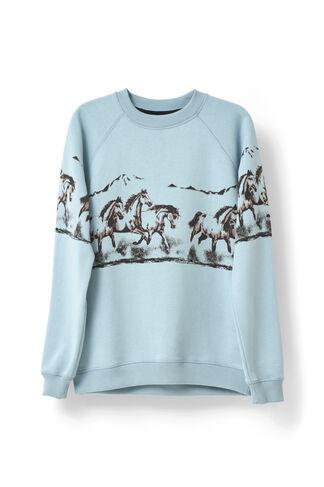 Jefferson Isoli Sweatshirt, Horse, Sterling Blue, hi-res