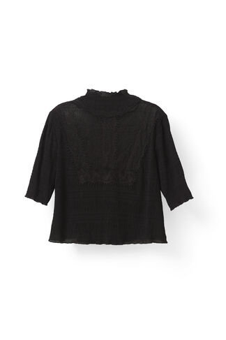 McKinney Pleat Blouse, Black, hi-res
