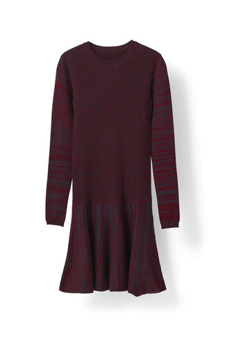 Harrison Knit dress, Cabernet Eclipse Melange, hi-res
