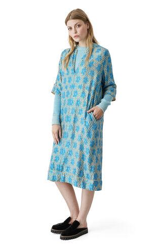 Emiko Jacquard Dress, Biscotti, hi-res
