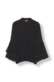 Emory Crepe Shirt, Black, hi-res