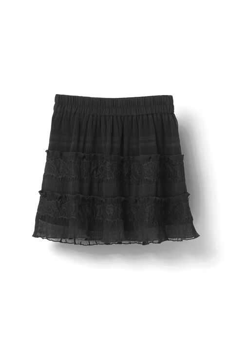 McKinney Pleat Skirt, Black, hi-res