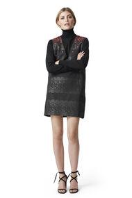 Auburn Jacquard Dress, Black, hi-res