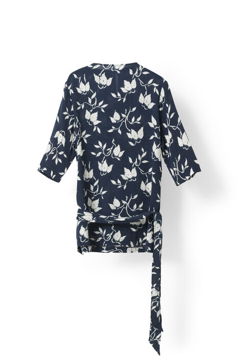Maxwell Crepe Blouse, Vanilla Ice Bell Flower, hi-res