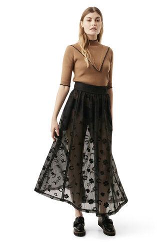 Hamilton Lace Skirt, Black Luck, hi-res