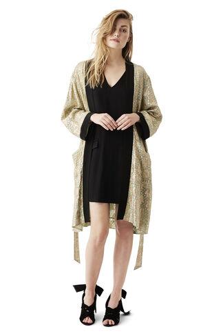 Emiko Jacquard Kimono Dress, Sea Foam, hi-res